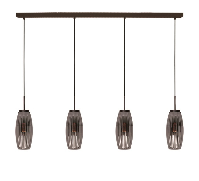 Hanglamp Bordo Smoke 4 Lichts |  | 8720143020636