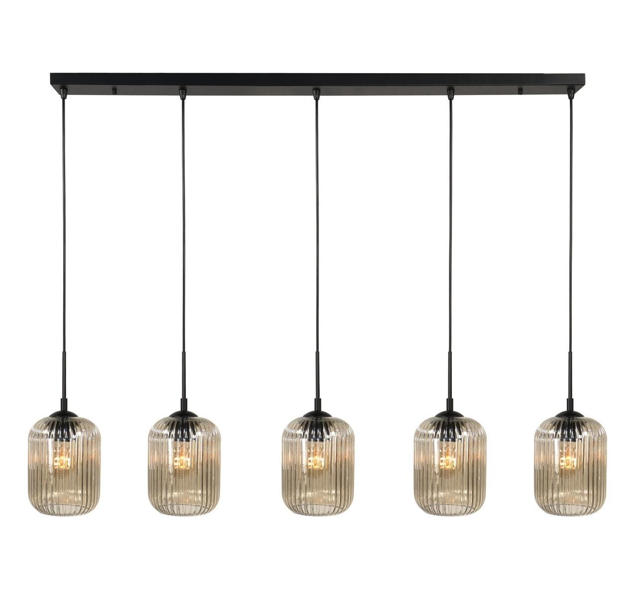 Hanglamp Castel Amber 5 Lichts 120cm |  | 8718379036811