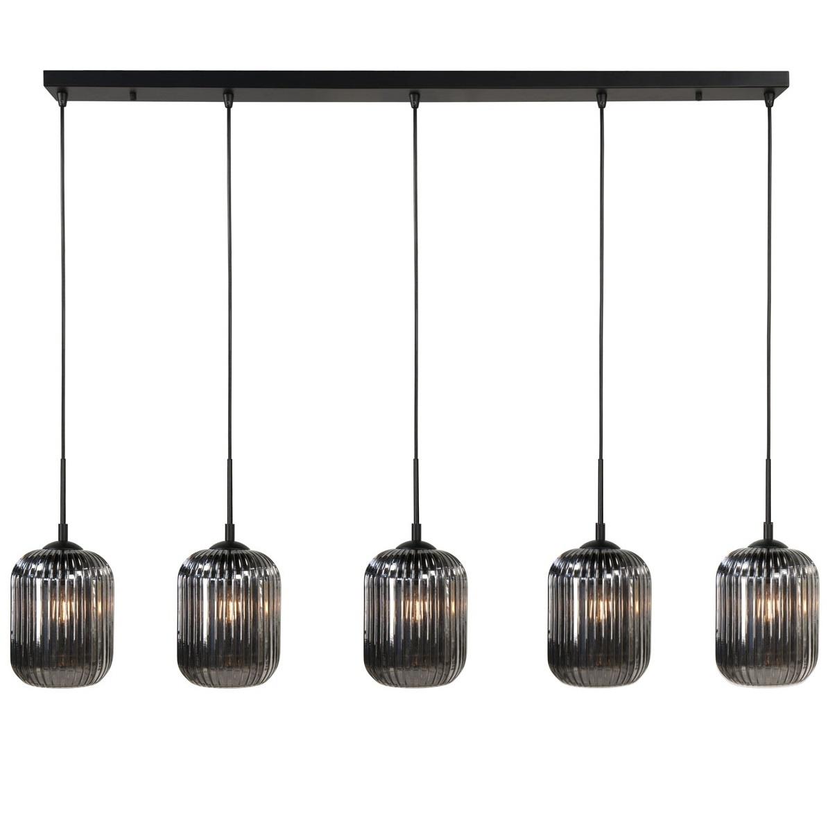 Hanglamp Castel Smoke 5 Lichts 120cm |  | 8718379036804