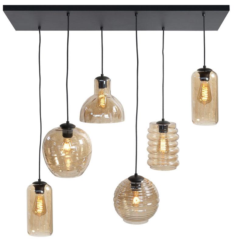 Hanglamp Fantasy Amber 6 Lichts |  | 8718379037146