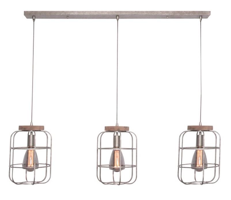 Hanglamp Galera Old Grey Vintage 3 lichts 110cm |  | 8720143020834