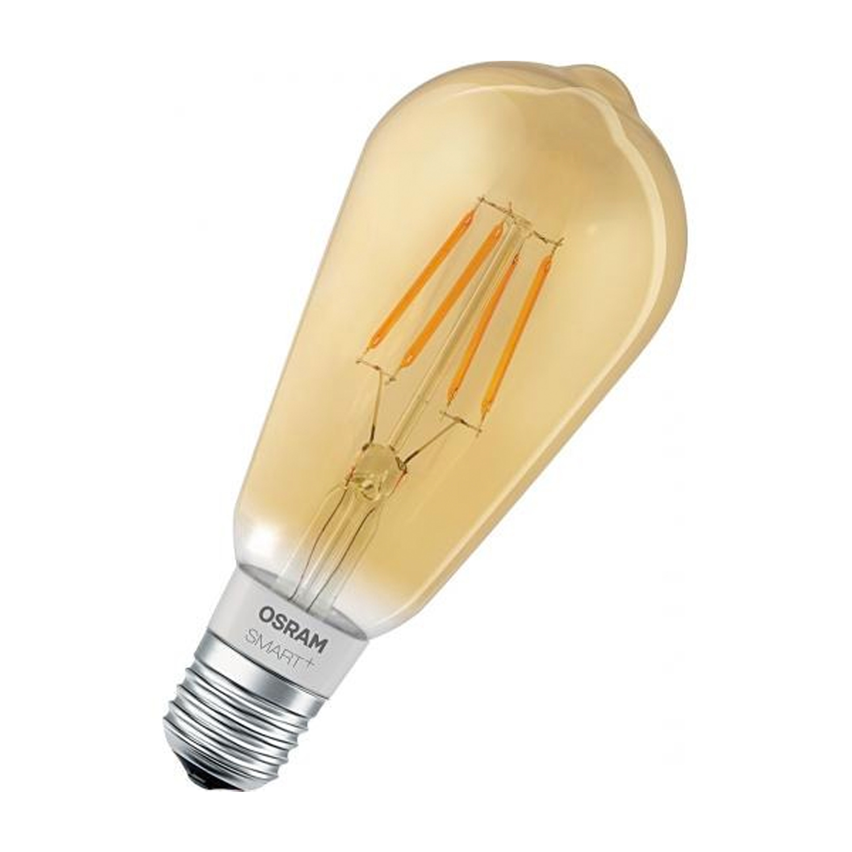 Ledvance Smart+ HomeKit Edison 5.5W 825 E27 Goud | Dimbaar – Zeer Warm Wit – Vervangt 45W | Ledvance | 4058075208605