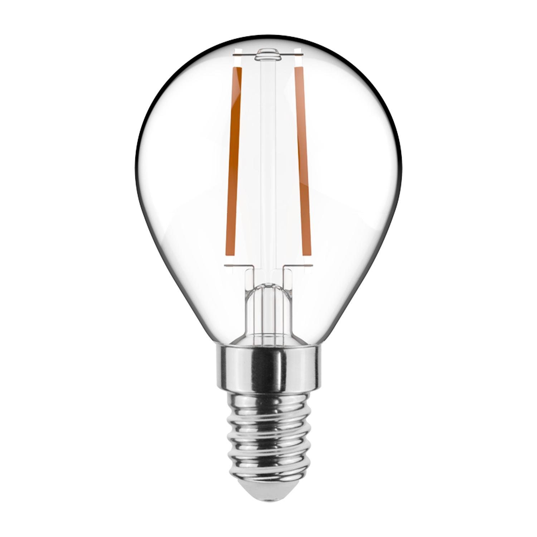 Noxion Lucent LED Lustre E14 2.5W 827 Filament | Dimbaar – Zeer Warm Wit – Vervangt 25W | Noxion | 8719157009478