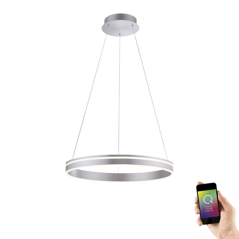 Hanglamp Q-Vito 59cm Staal Smart Home |  | 4012248332078