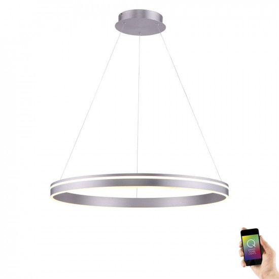 Hanglamp Q-Vito 80cm Staal Smart Home |  | 4012248332092