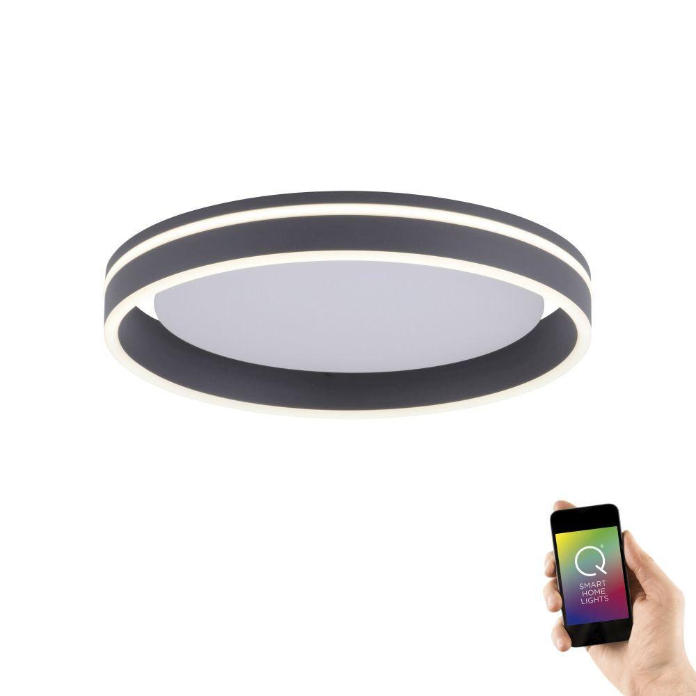 Plafondlamp Q-Vito 40cm Antraciet Smart Home |  | 4012248336052