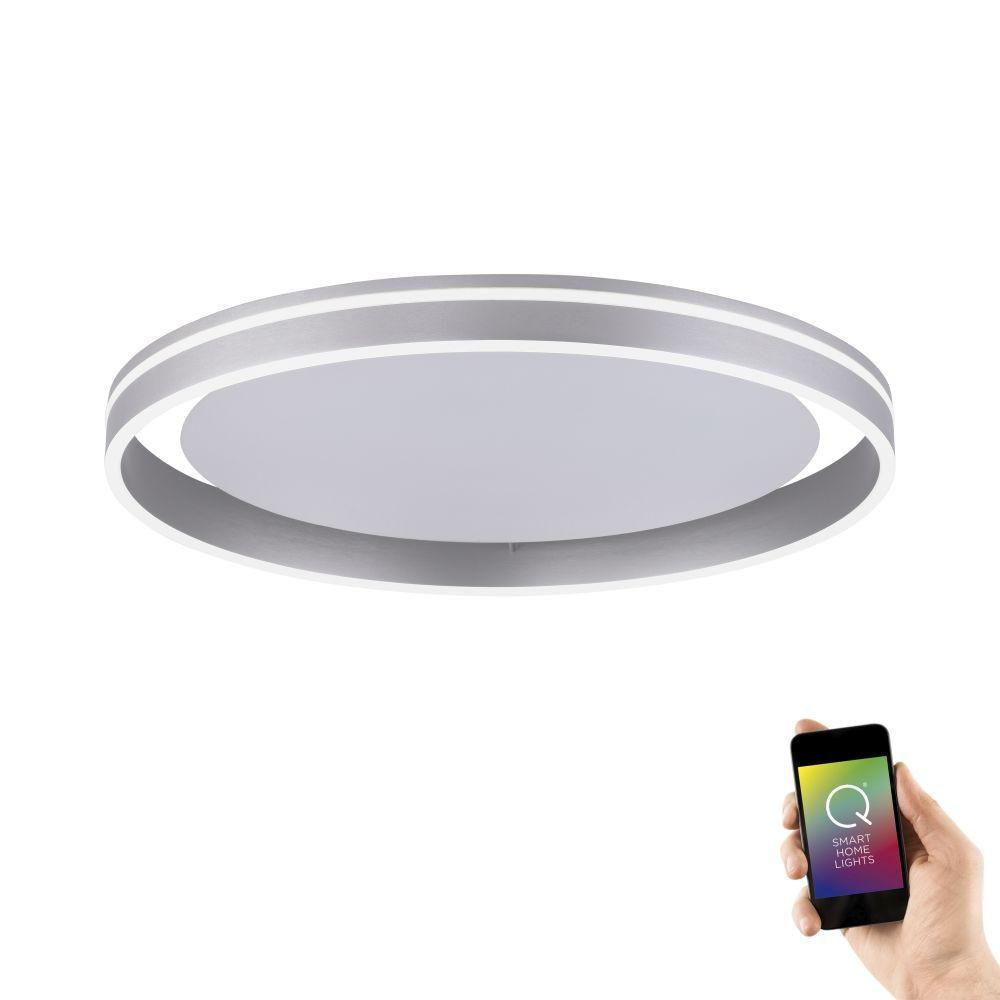Plafondlamp Q-Vito 59cm Staal Smart Home |  | 4012248333877