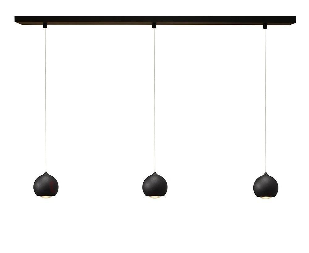 Artdelight Hanglamp LED Denver Mat Zwart Ø 10cm 3 Lichts | Artdelight | 7061285533723