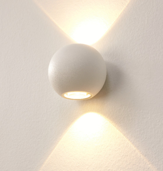 Artdelight Wandlamp LED Denver Wit IP54   Artdelight   7106624972358