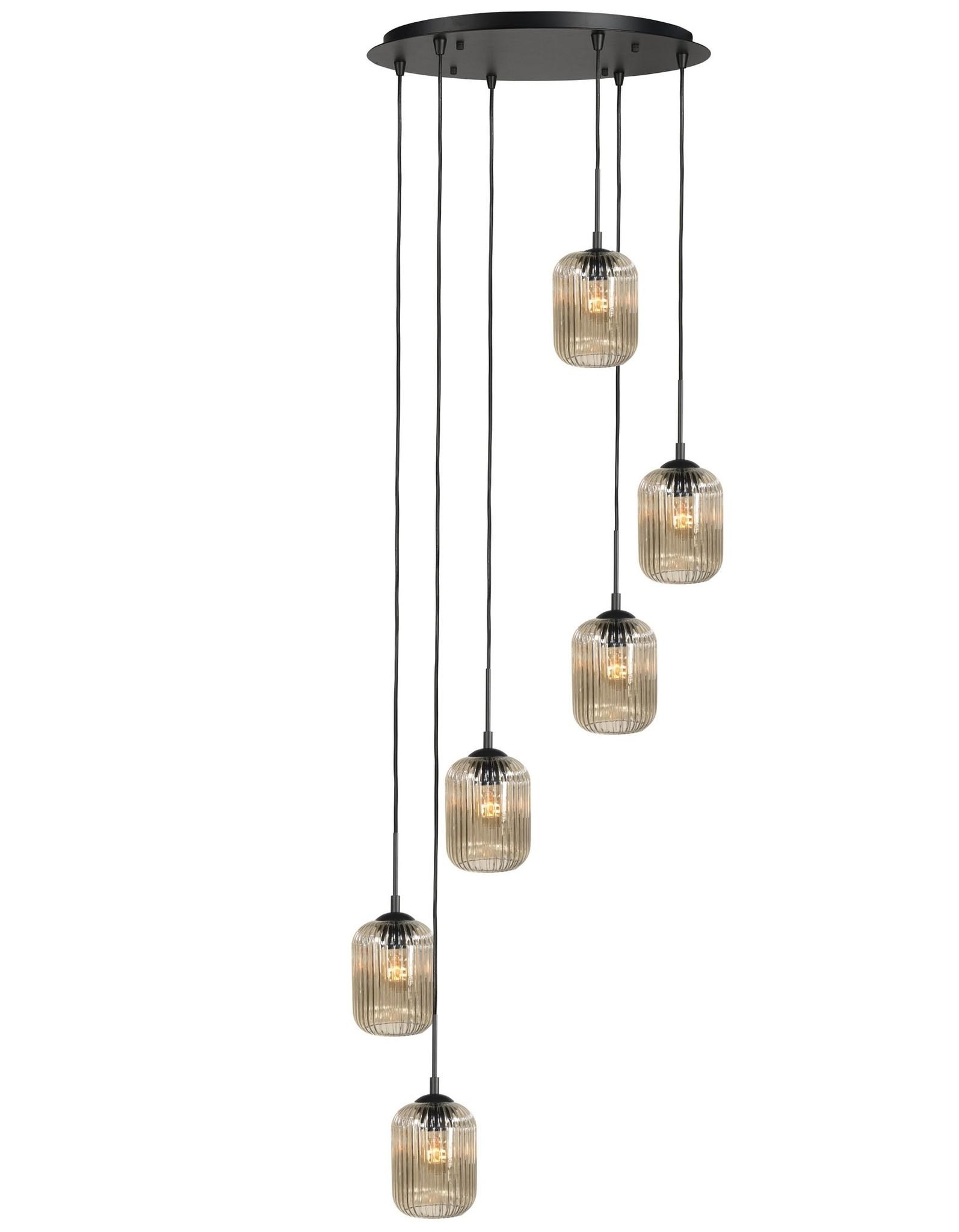 Hanglamp Castel Amber 6 Lichts 50cm Ø |  | 8718379036835