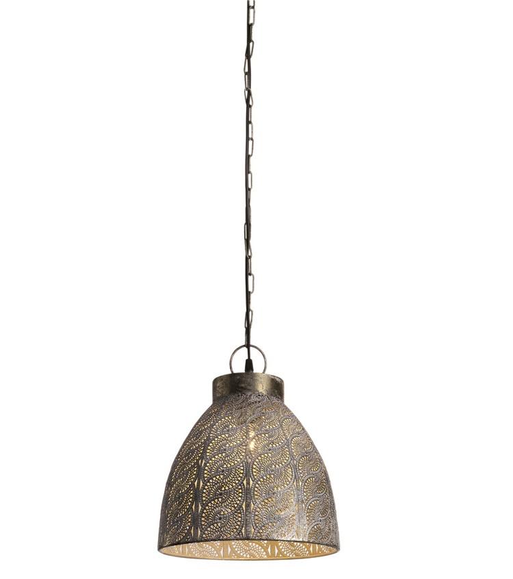 Hanglamp Disegno Ø 27cm Antiek Goud-Wit |  | 8718444959625