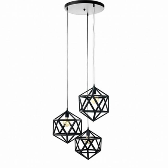 Hanglamp Triangel Zwart XXL 3x40cm |  | 8713244081446