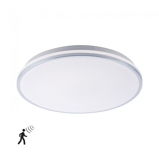Plafondlamp Isa Wit IP44 incl. Bewegingssensor |  | 4043689962593