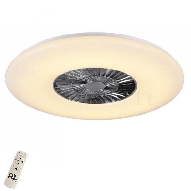 Plafondventilator Visby Led Wit Chroom 75cm |  | 4017807461084