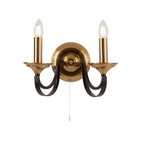 Searchlight Klassieke wandlamp Belfry 1842-2BZ | 5053423135748