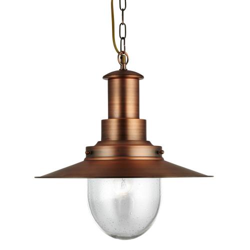 Searchlight Koperen hanglamp FishermanØ 39cm 5301CU | 5053423023366