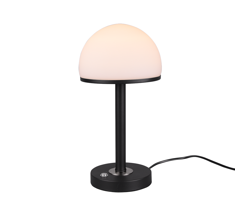 Tafellamp Berlin mat Zwart 39cm 4Watt Led      4017807480313