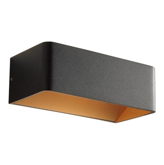 Wandlamp Mainz Zwart – Goud 2 x 3Watt Led |  | 8719831734689