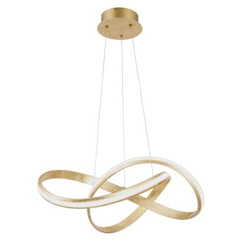 Paul Neuhaus Gouden hanglamp MelindaØ 60cm 8291-12 | 4012248327586