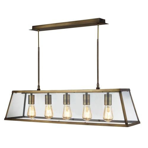 Searchlight Landelijke hanglamp Voyager 4614-5AB   5053423134215