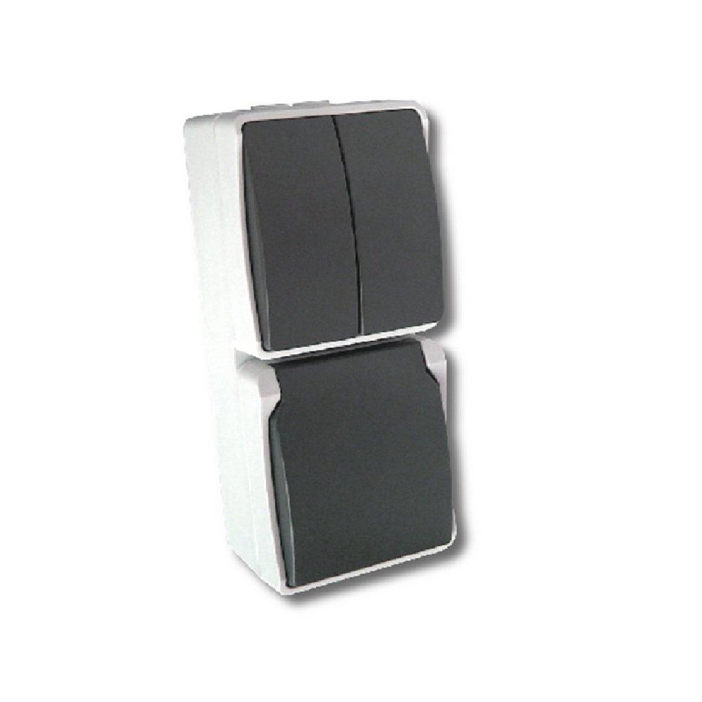 Vtac Double socket 4657922 | 8716044003663